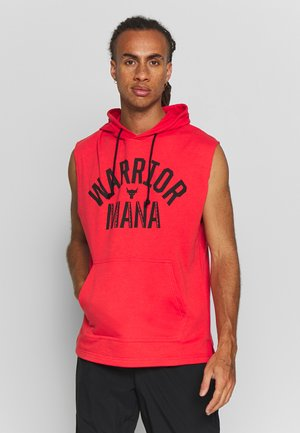 PROJECT ROCK HOODIE - Hoodie - versa red/black