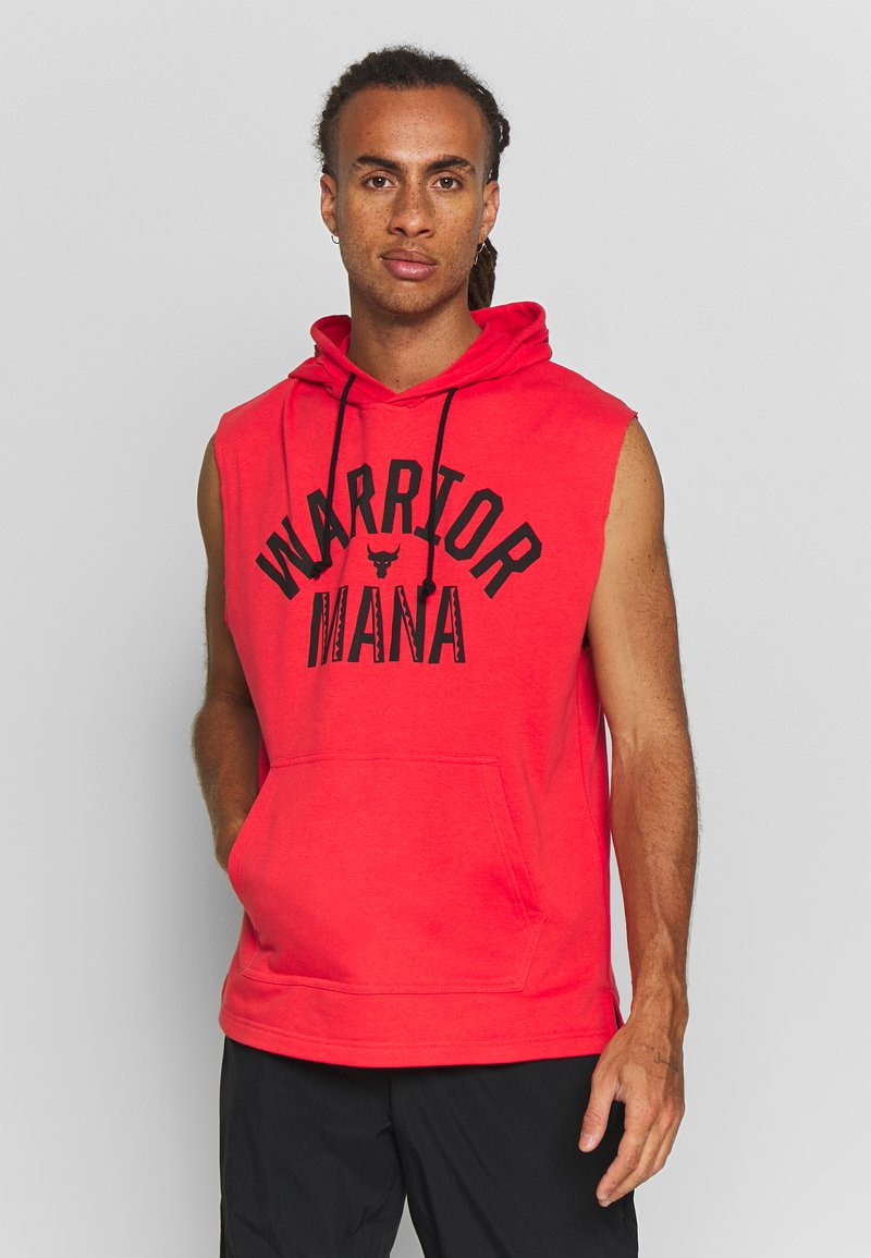 Under Armour - PROJECT ROCK HOODIE - Mikina skapucí - versa red/black