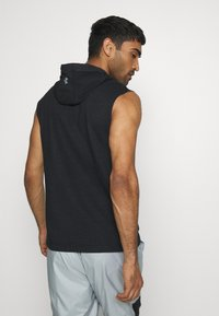 Under Armour - PROJECT ROCK HOODIE - Sweat à capuche - black full heather/summit white - 2