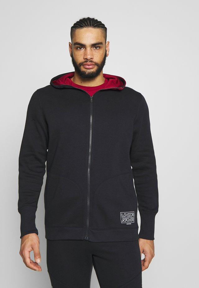 BASELINE HOOD - veste en sweat zippée - black/cordova/halo gray