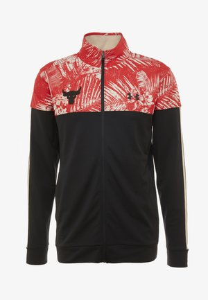 PROJECT ROCK TRACK JACKET - Sportovní bunda - black/versa red