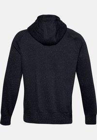 Under Armour - SPECKLED HOODIE - Zip-up hoodie - black - 1