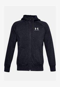 Under Armour - SPECKLED HOODIE - Zip-up hoodie - black - 0