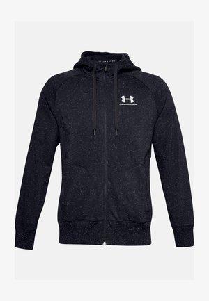 SPECKLED HOODIE - Zip-up hoodie - black