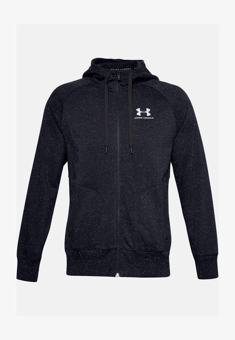 Under Armour - SPECKLED HOODIE - Zip-up hoodie - black