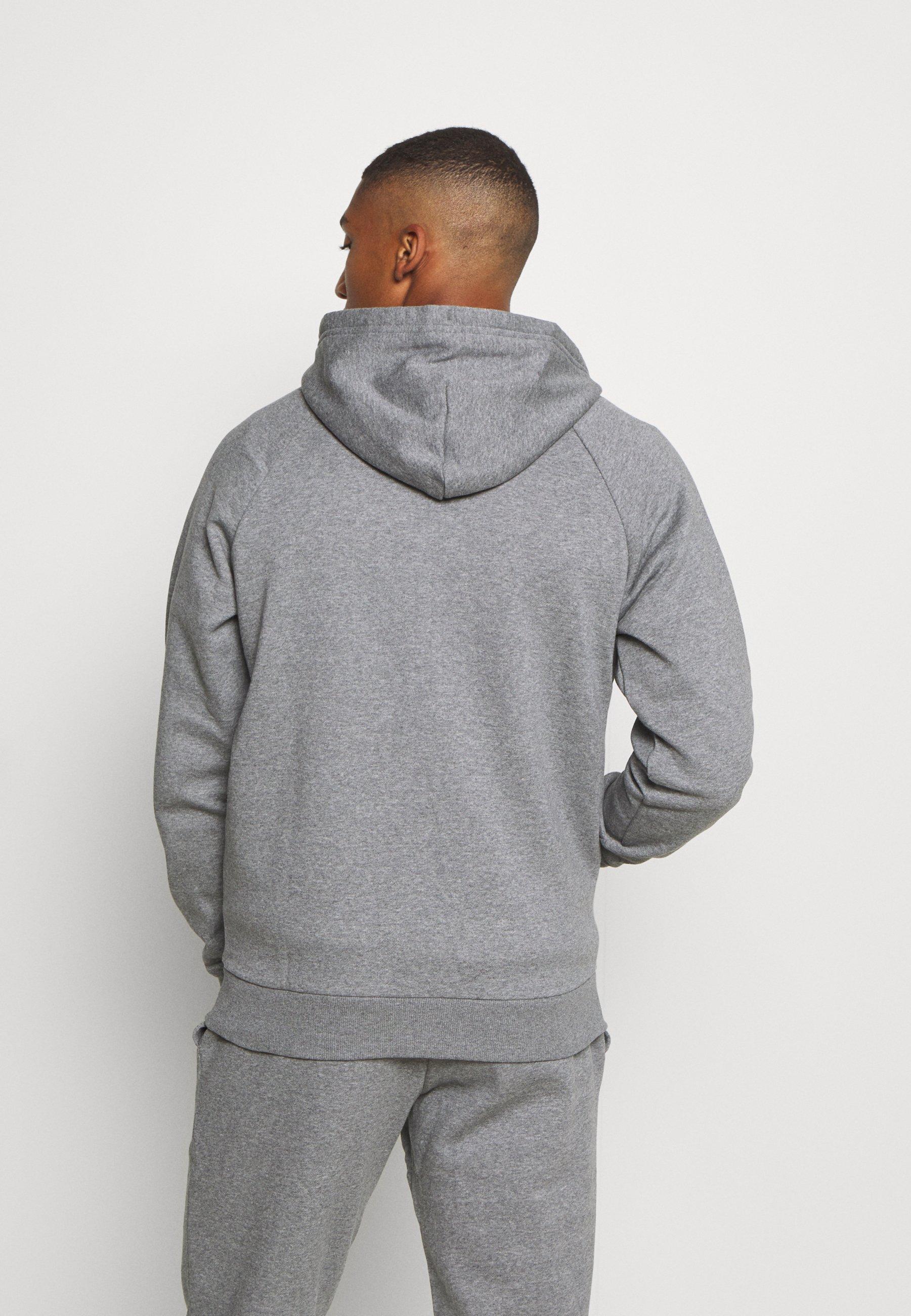 RIVAL HOODIE veste en sweat zippée pitch gray light heatheronyx white
