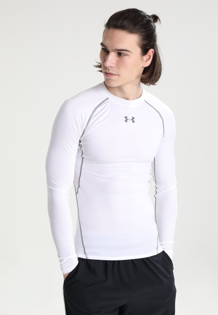 Under Armour - COMP - Sports shirt - weiß/grau