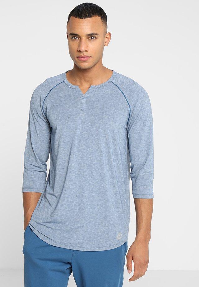 Camiseta de manga larga - petrol blue fade heather/metallic silver