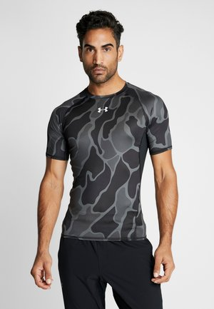 UA HG ARMOUR SS NOV - Rash vest - black/halo gray