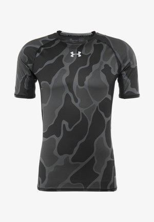 Camiseta estampada - black/halo gray
