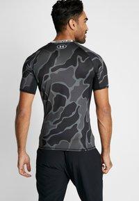 Under Armour - Camiseta estampada - black/halo gray - 2