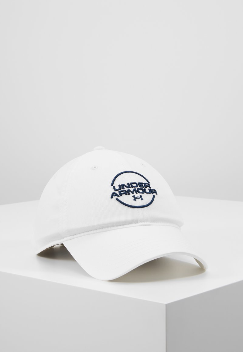 Under Armour - MENS WASHED  - Cap - white/academy