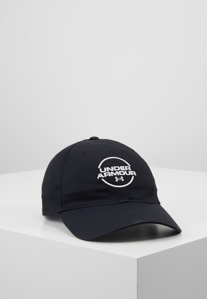 Under Armour - MENS WASHED  - Cap - black/white