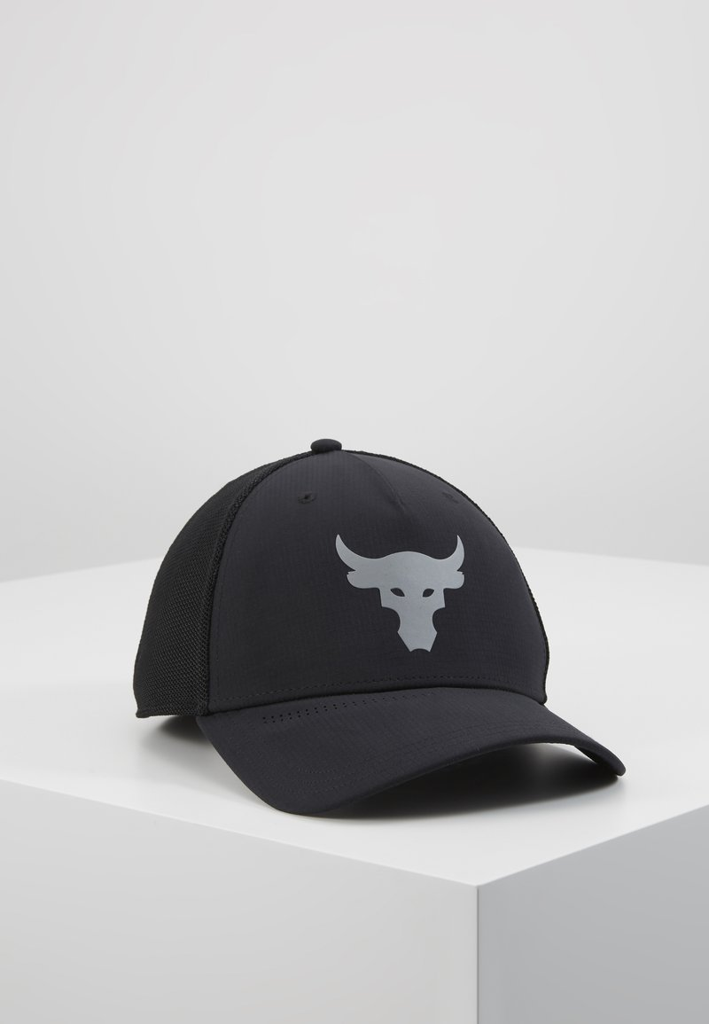 Under Armour - PROJECT ROCK TRUCKER - Lippalakki - black/pitch gray