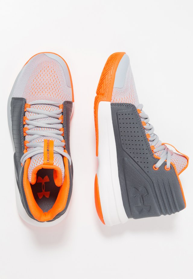 TORCH MID - Zapatillas de baloncesto - mod gray/pitch gray/orange glitch