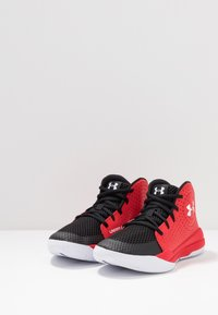 Under Armour - JET 2019 - Basketballsko - red/black/white - 3