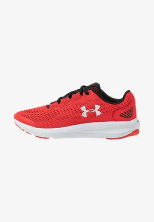 CHARGED PURSUIT 2 - Neutral running shoes - versa red/black/metallic silver
