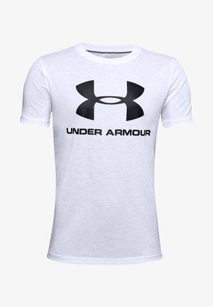 SPORTSTYLE LOGO - T-shirt z nadrukiem - white