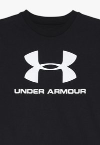 Under Armour - SPORTSTYLE LOGO - T-shirt con stampa - black/white - 3