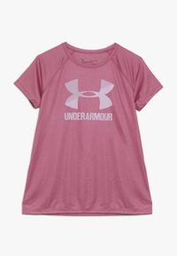 Under Armour - BIG LOGO TEE SOLID - T-shirt print - pace pink/pink fog - 0