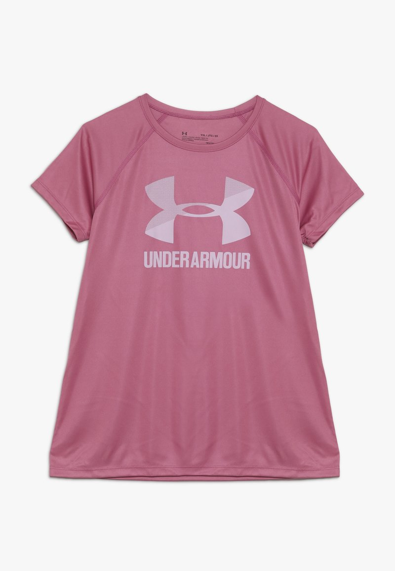 Under Armour - BIG LOGO TEE SOLID - T-shirt print - pace pink/pink fog