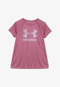 Under Armour - BIG LOGO TEE SOLID - T-shirt print - pace pink/pink fog - 2