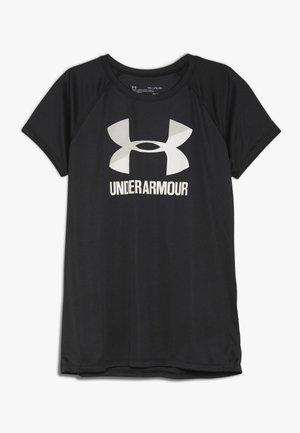 BIG LOGO TEE SOLID - T-shirt z nadrukiem - black/white