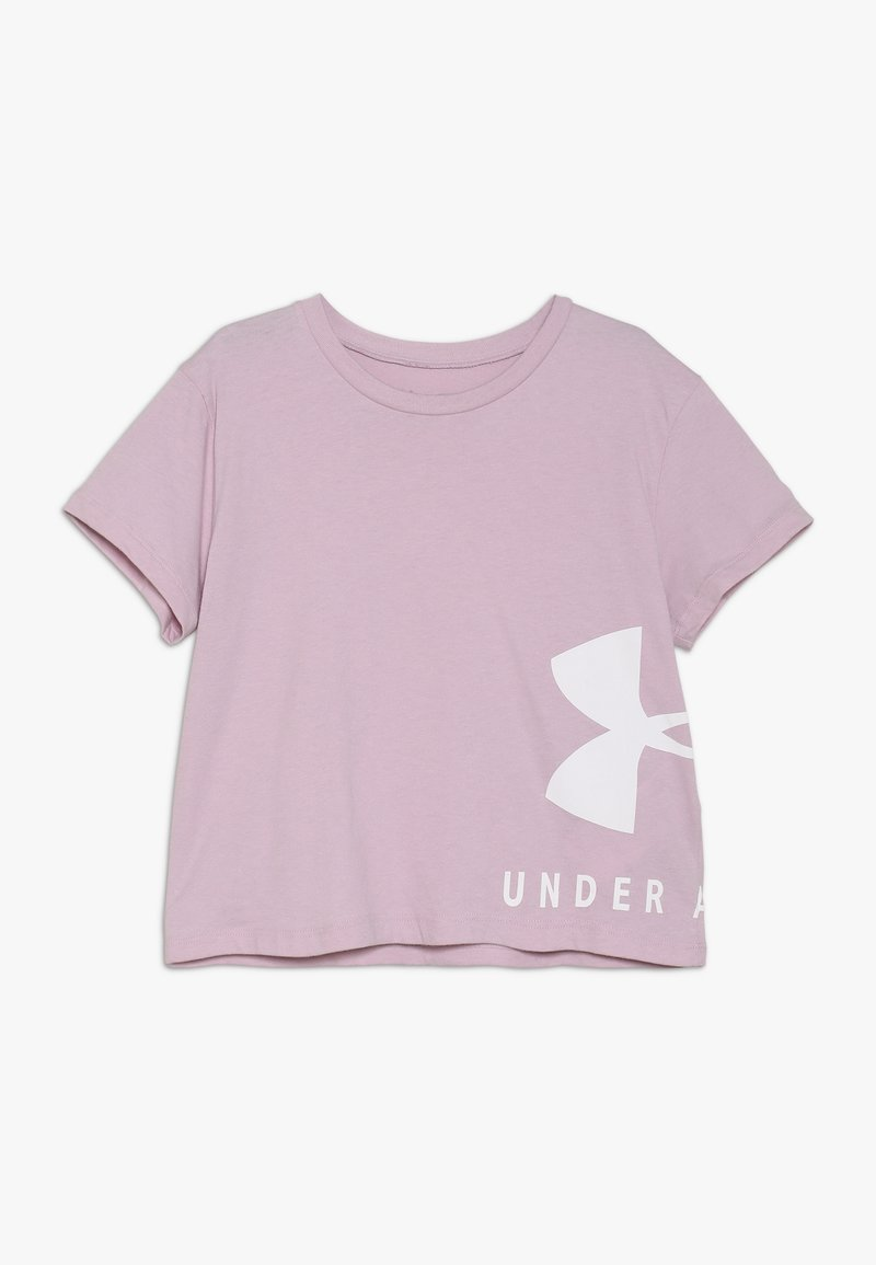 Under Armour - SPORTSTYLE TEE - T-shirt med print - pink fog/white