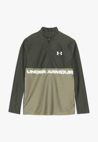 Under Armour - TECH 1/2 ZIP - Sports shirt - guardian green/outpost green/butter white - 0