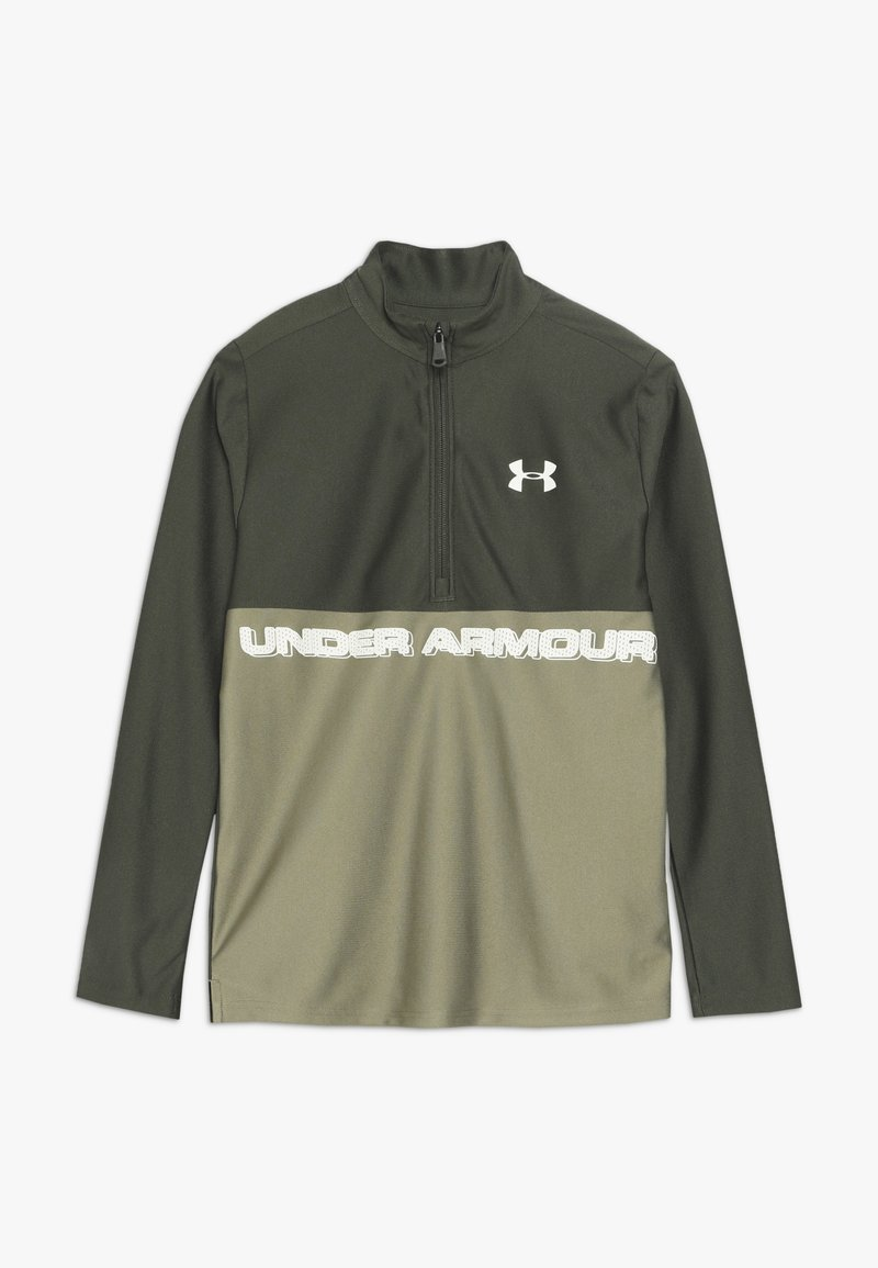 Under Armour - TECH 1/2 ZIP - Sports shirt - guardian green/outpost green/butter white
