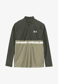 Under Armour - TECH 1/2 ZIP - Sports shirt - guardian green/outpost green/butter white - 3