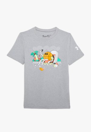 MR BUCKETS TEE - T-shirt con stampa - mod gray light heather/white