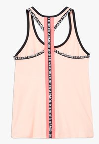 Under Armour - KNOCKOUT TANK - Sports shirt - peach frost/eclectic pink - 1