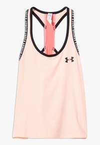 Under Armour - KNOCKOUT TANK - Sports shirt - peach frost/eclectic pink - 0