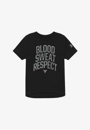 PROJECT ROCK BLOOD SWEAT RESPECT - T-shirt imprimé - black/summit white