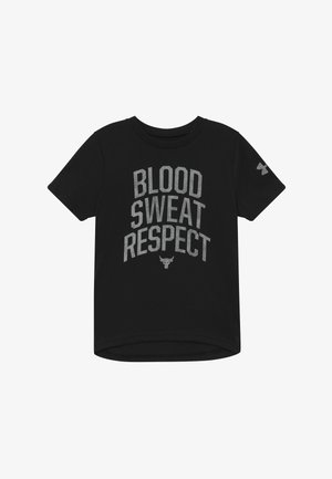 PROJECT ROCK BLOOD SWEAT RESPECT - Triko spotiskem - black/summit white
