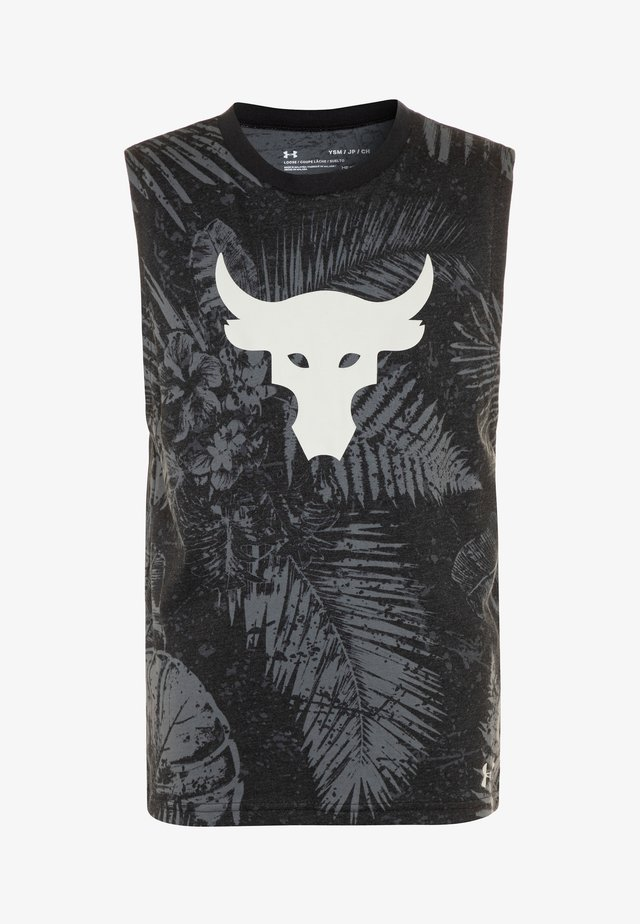 PROJECT ROCK BRAMA BULL ALOHA TANK - Débardeur - black/summit white