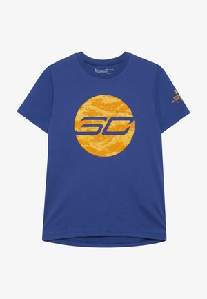 LOGO TEE - T-shirt con stampa - american blue/koda orange/persimmon