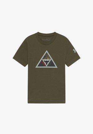PROJECT ROCK BRAMA BULL - T-shirt imprimé - guardian green/black