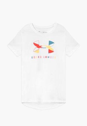 GRAPHIC BIG LOGO - Camiseta estampada - white/beta