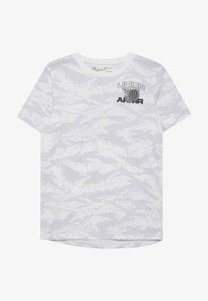 CAMO TEE - T-shirt con stampa - white/black