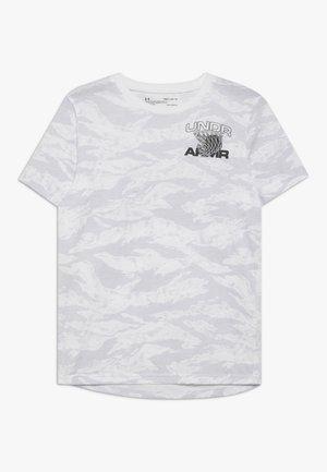 CAMO TEE - T-shirt z nadrukiem - white/black