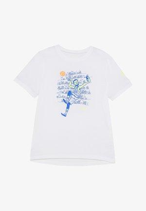 SC30 SELFIE TEE - T-shirt con stampa - white/versa blue