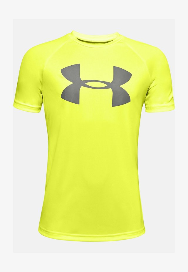 Print T-shirt - neon yellow