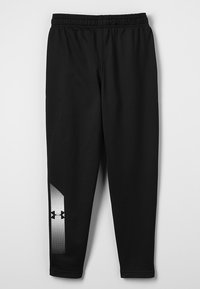 Under Armour - BRAWLER TAPERED PANT - Teplákové kalhoty - black/white - 1