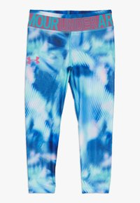 Under Armour - PRINTED ANKLE CROP - Collants - breathtaking blue/pace pink - 0