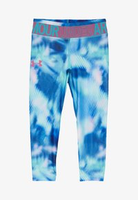 Under Armour - PRINTED ANKLE CROP - Leggings - breathtaking blue/pace pink - 3