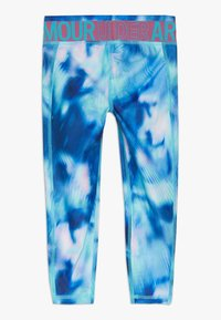 Under Armour - PRINTED ANKLE CROP - Leggings - breathtaking blue/pace pink - 1