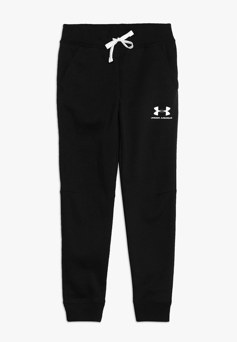 Under Armour - Tracksuit bottoms - black/white