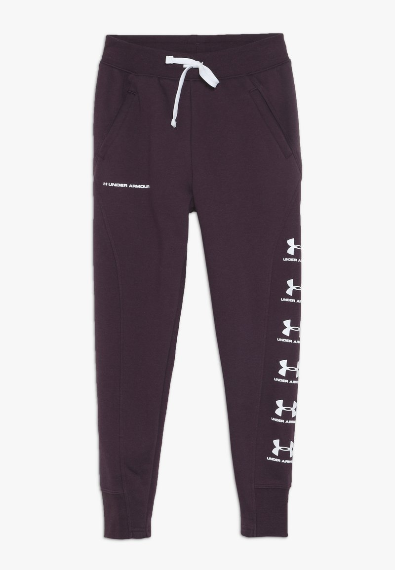 Under Armour - RIVAL - Tracksuit bottoms - kinetic purple/white